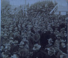 1st South Dakota Regiment listening to President McKinley's address after returning from the...