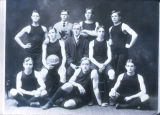 Sioux Falls High School Basketball team. Photograph. 1907