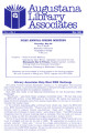 Augustana Library Associates Newsletter - 1984 May